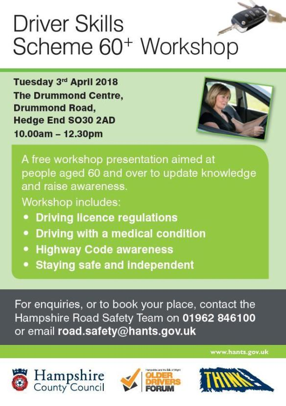 Driver Skills 60+ workshop April 2018