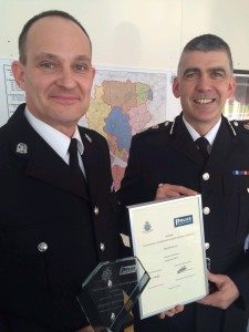 Sgt Rob Heard - Chair of Older Drivers Forum - with Hampshire Chief Constable Andy Marsh
