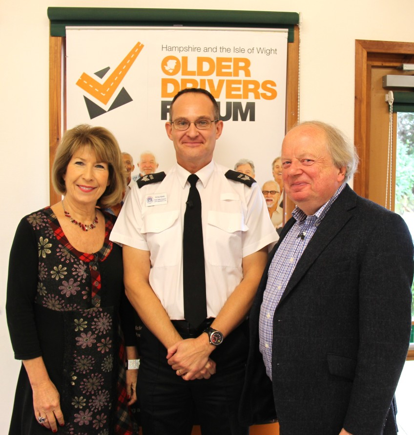 Sgt Rob Heard with Jennie Bond and John Sergeant